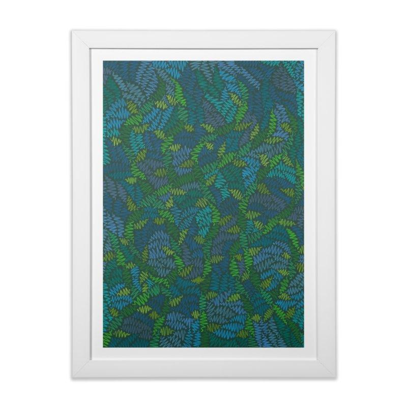 Creeping Vines Home Framed Fine Art Print by Zia Foley's Artist Shop