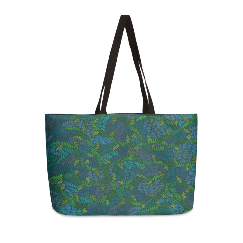 Creeping Vines Accessories Bag by Zia Foley's Artist Shop