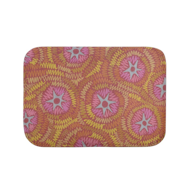 Star Fire Home Bath Mat by Zia Foley's Artist Shop