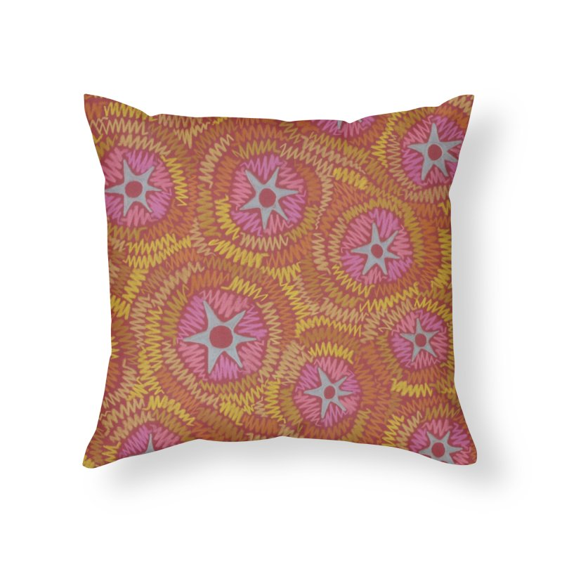 Star Fire Home Throw Pillow by Zia Foley's Artist Shop