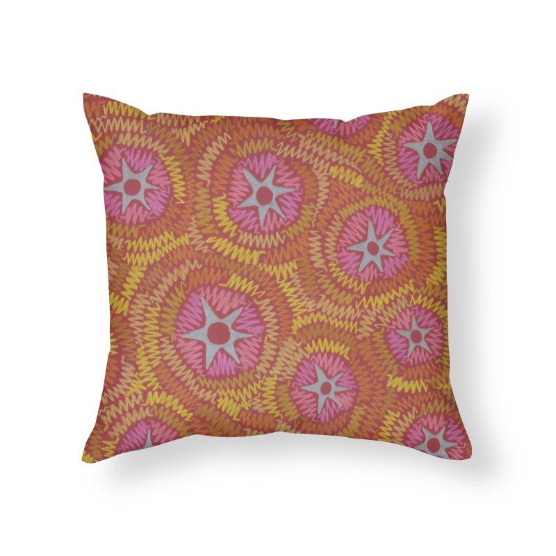 Star Fire Home Throw Pillow by Zia Foley's Artist Shop