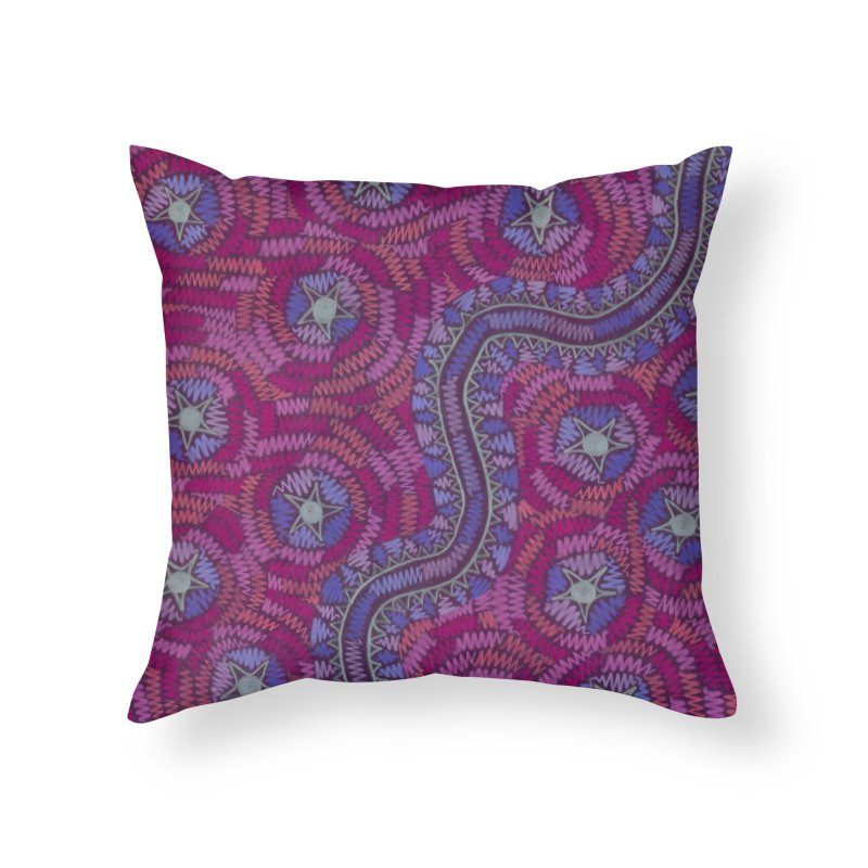 A Path Through the Stars Home Throw Pillow by Zia Foley's Artist Shop