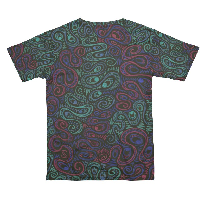 Curly Qued Men's Cut & Sew by Zia Foley's Artist Shop
