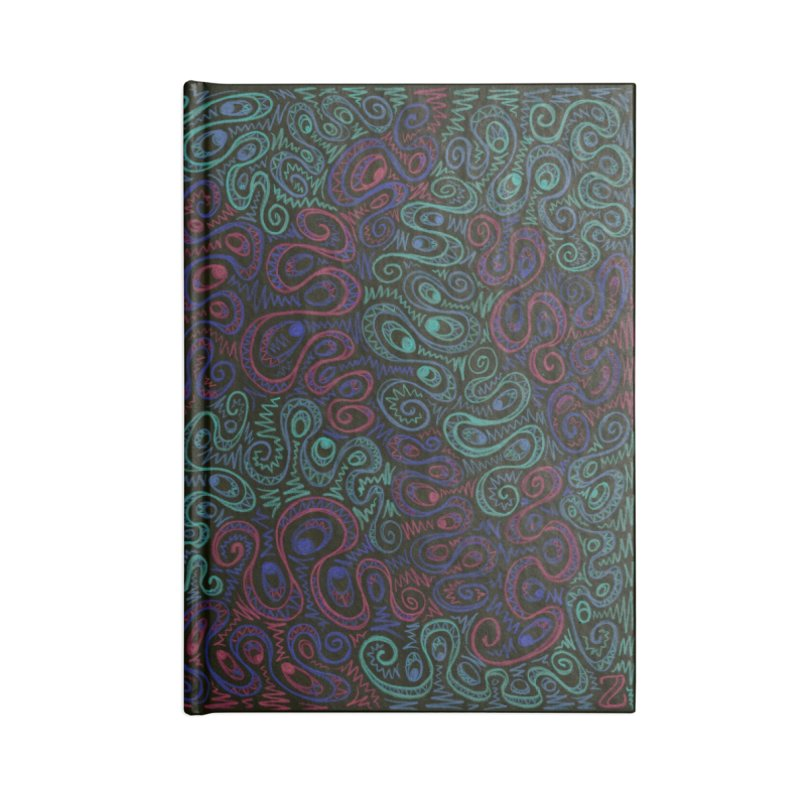 Curly Qued Accessories Notebook by Zia Foley's Artist Shop