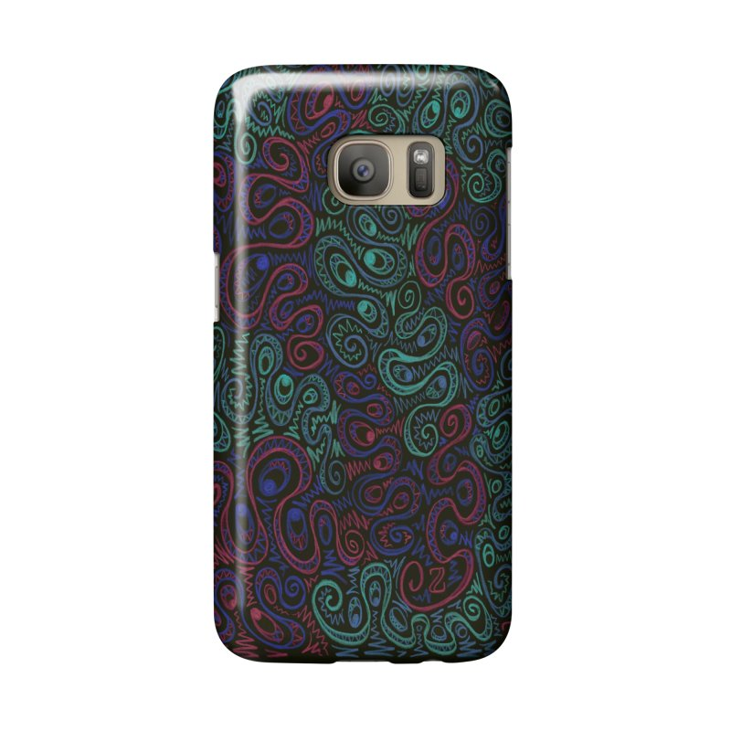 Curly Qued Accessories Phone Case by Zia Foley's Artist Shop