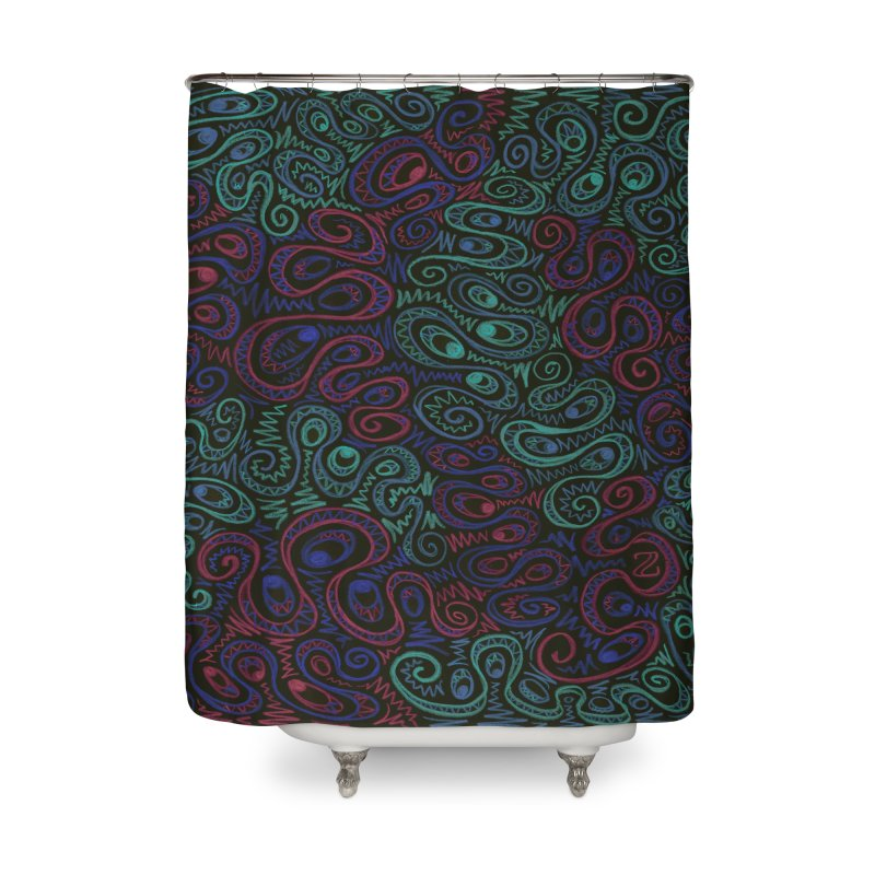 Curly Qued Home Shower Curtain by Zia Foley's Artist Shop