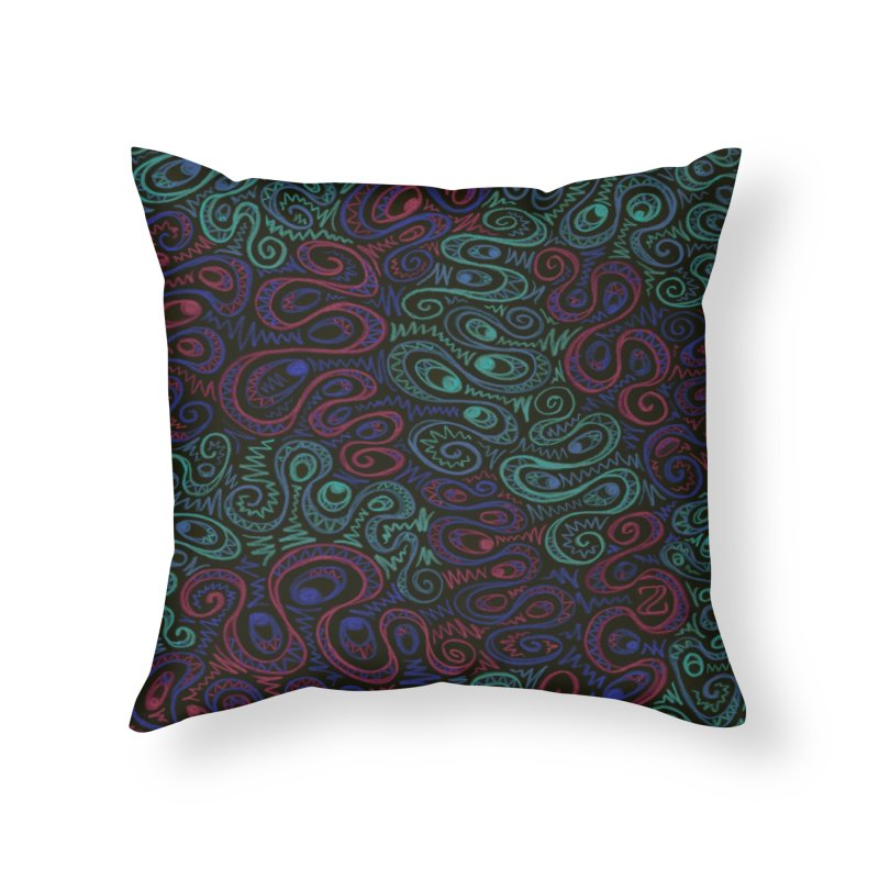 Curly Qued Home Throw Pillow by Zia Foley's Artist Shop