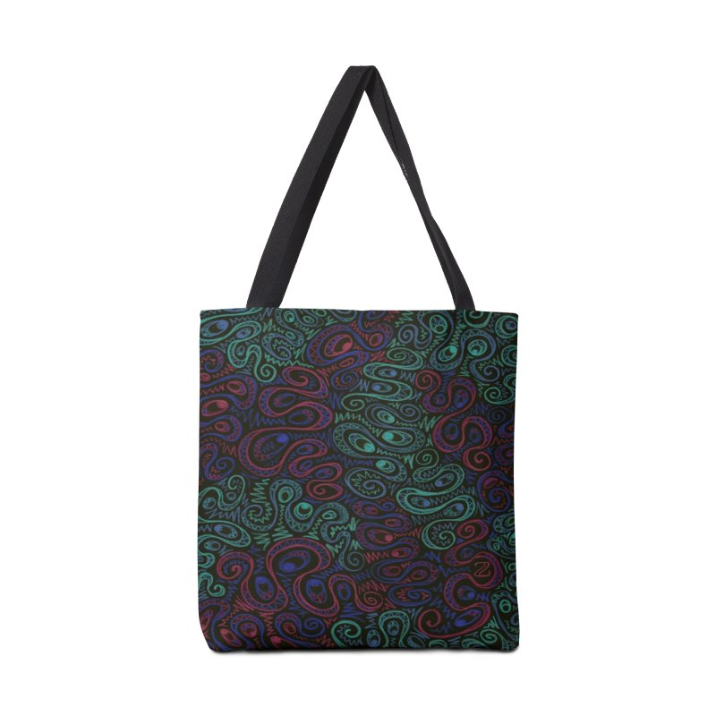 Curly Qued Accessories Bag by Zia Foley's Artist Shop