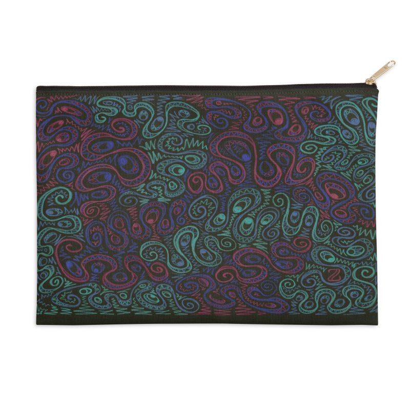 Curly Qued Accessories Zip Pouch by Zia Foley's Artist Shop