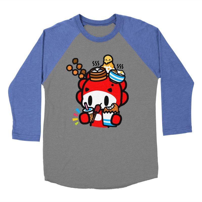 food food food... Women's Baseball Triblend Longsleeve T-Shirt by Ziqi - Monster Little