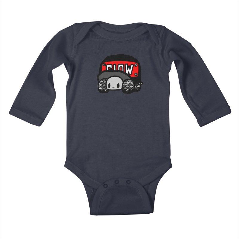 Cap Turtle Kids Baby Longsleeve Bodysuit by Ziqi - Monster Little