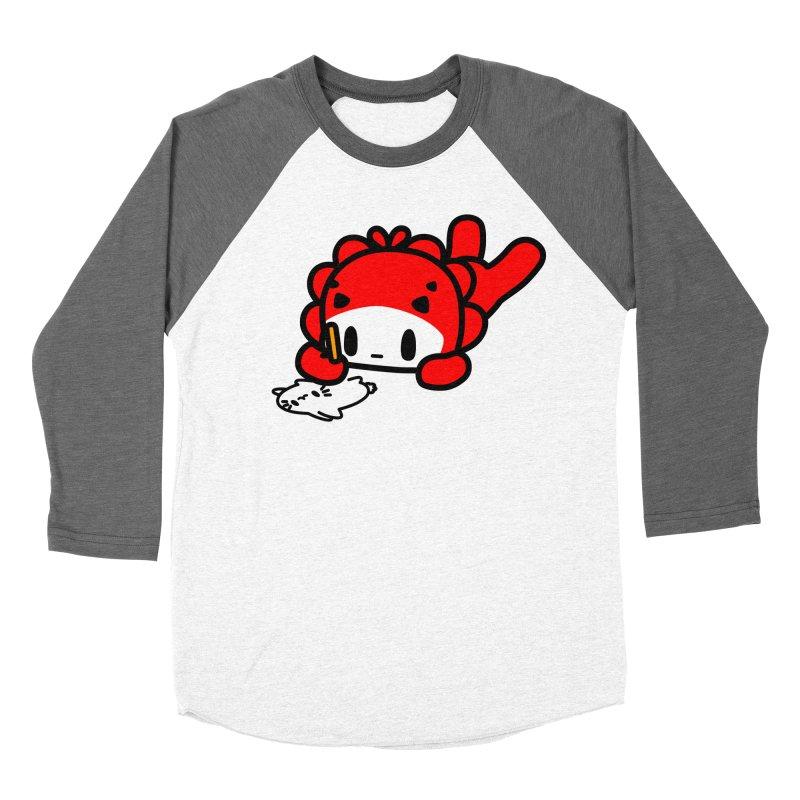 draw draw draw... Women's Baseball Triblend Longsleeve T-Shirt by Ziqi - Monster Little