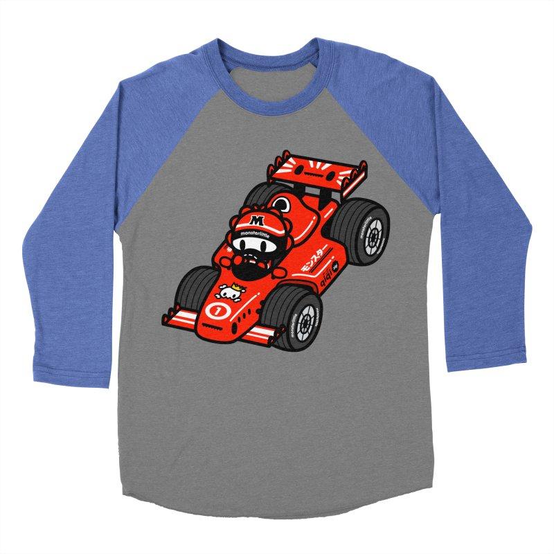 vroom! vroom!! vroom!!! Women's Baseball Triblend Longsleeve T-Shirt by Ziqi - Monster Little