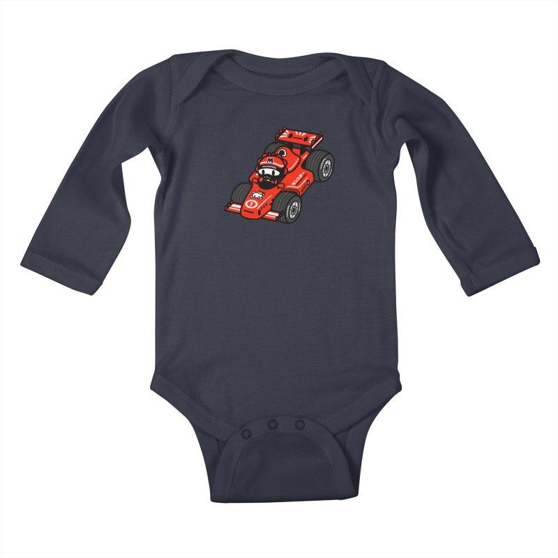 vroom! vroom!! vroom!!! Kids Baby Longsleeve Bodysuit by Ziqi - Monster Little