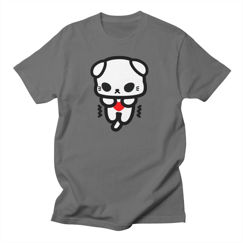 scaredy scaredy white kitty Men's T-Shirt by Ziqi - Monster Little