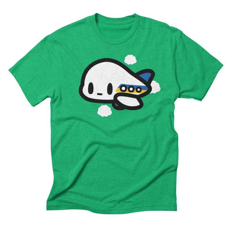 plane Men's Triblend T-Shirt by Ziqi - Monster Little