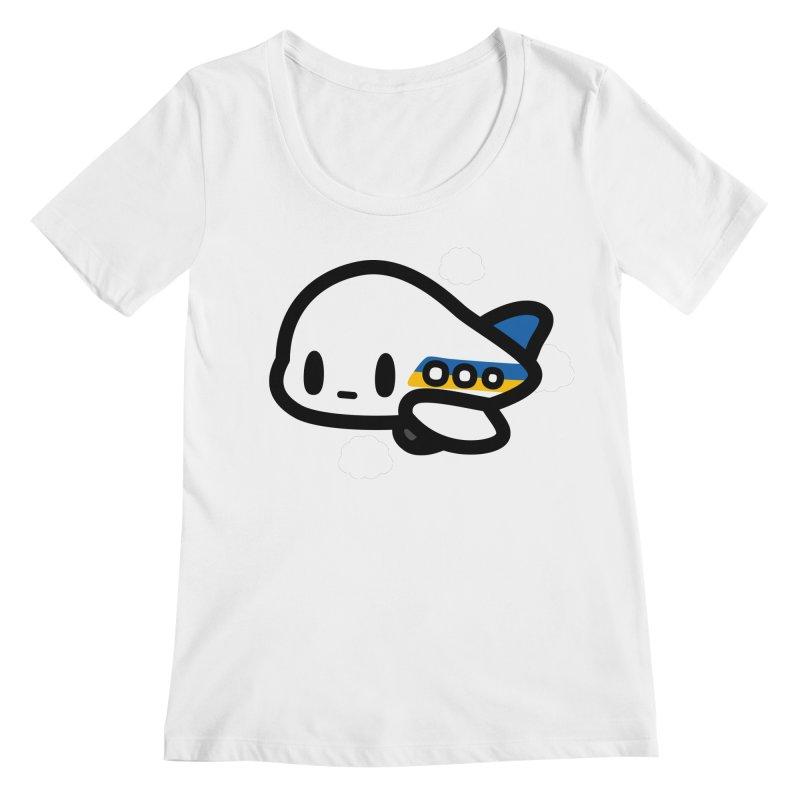 plane Women's Regular Scoop Neck by Ziqi - Monster Little
