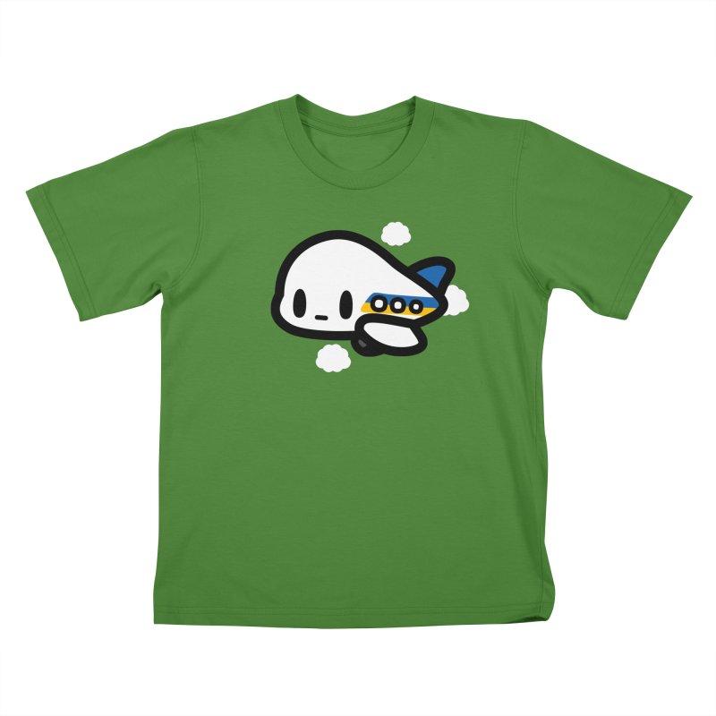 plane Kids T-shirt by Ziqi - Monster Little