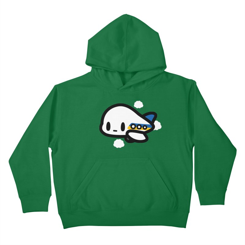 plane Kids Pullover Hoody by Ziqi - Monster Little