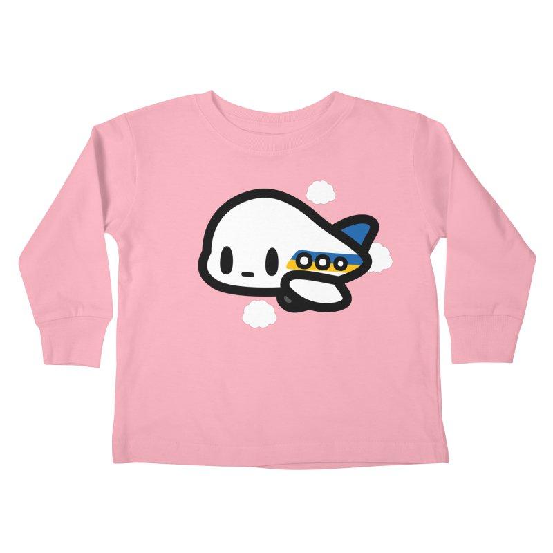plane Kids Toddler Longsleeve T-Shirt by Ziqi - Monster Little