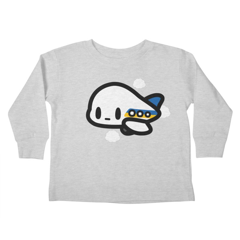 plane Kids Toddler Longsleeve T-Shirt by Ziqi - Monster Little