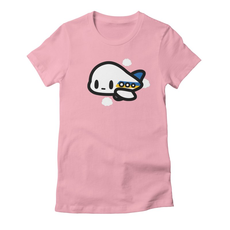 plane Women's Fitted T-Shirt by Ziqi - Monster Little