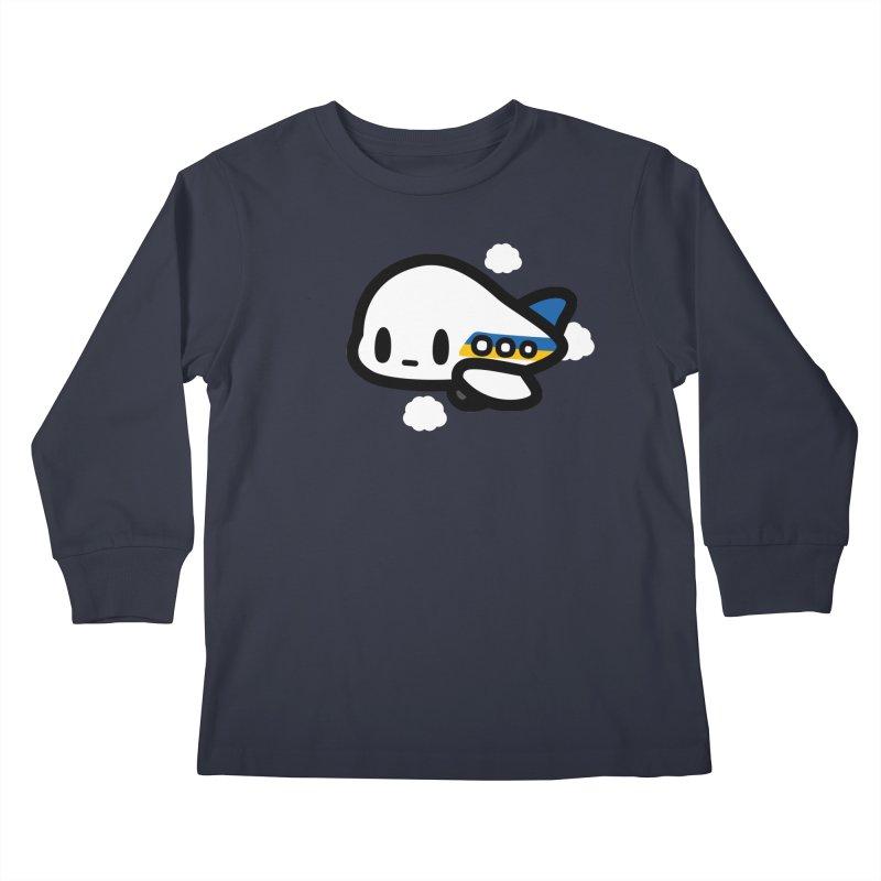 plane Kids Longsleeve T-Shirt by Ziqi - Monster Little