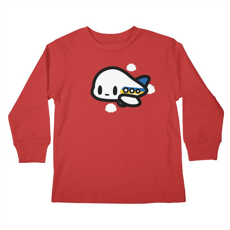 plane Kids Longsleeve T-Shirt by Ziqi - Monster Little