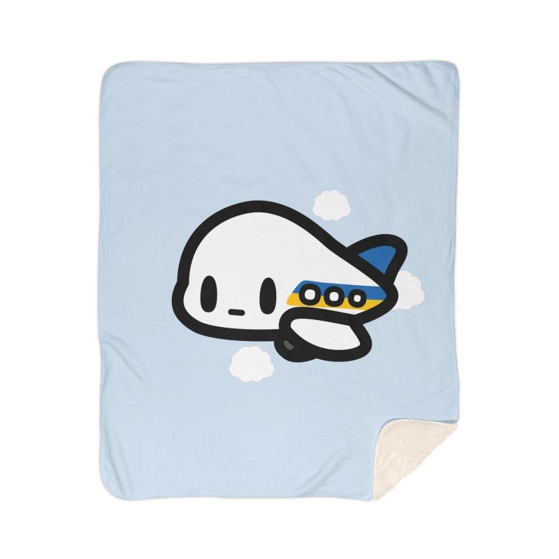 plane Home Sherpa Blanket Blanket by Ziqi - Monster Little