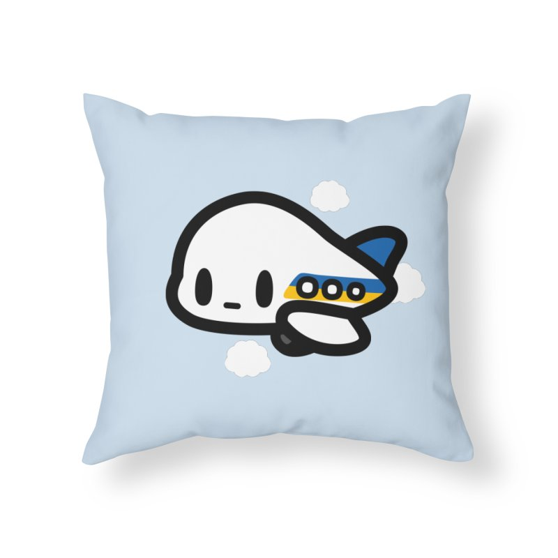plane Home Throw Pillow by Ziqi - Monster Little