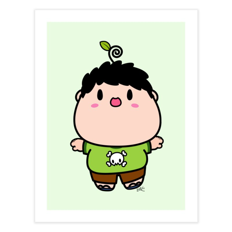 nasu boy Home Fine Art Print by Ziqi - Monster Little
