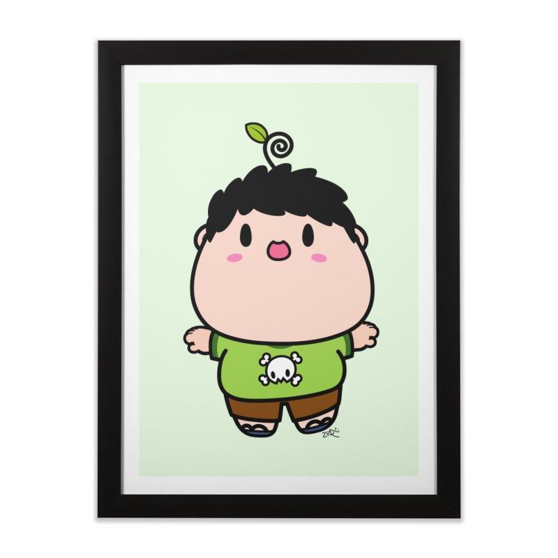 nasu boy Home Framed Fine Art Print by Ziqi - Monster Little