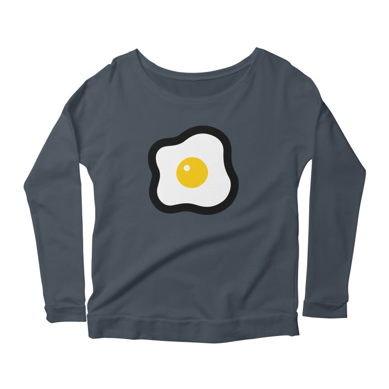 sunny side up! Women's Scoop Neck Longsleeve T-Shirt by Ziqi - Monster Little