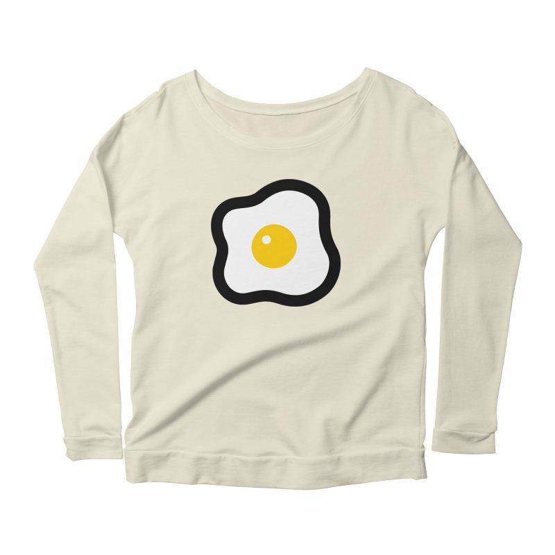 sunny side up! Women's Scoop Neck Longsleeve T-Shirt by Ziqi - Monster Little