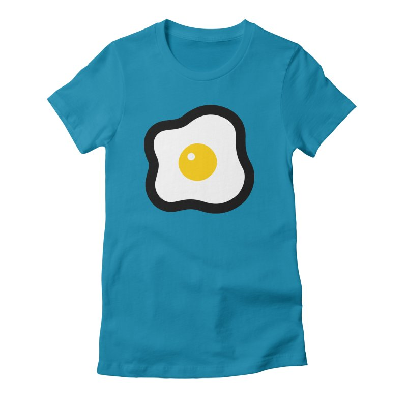 sunny side up! Women's Fitted T-Shirt by Ziqi - Monster Little
