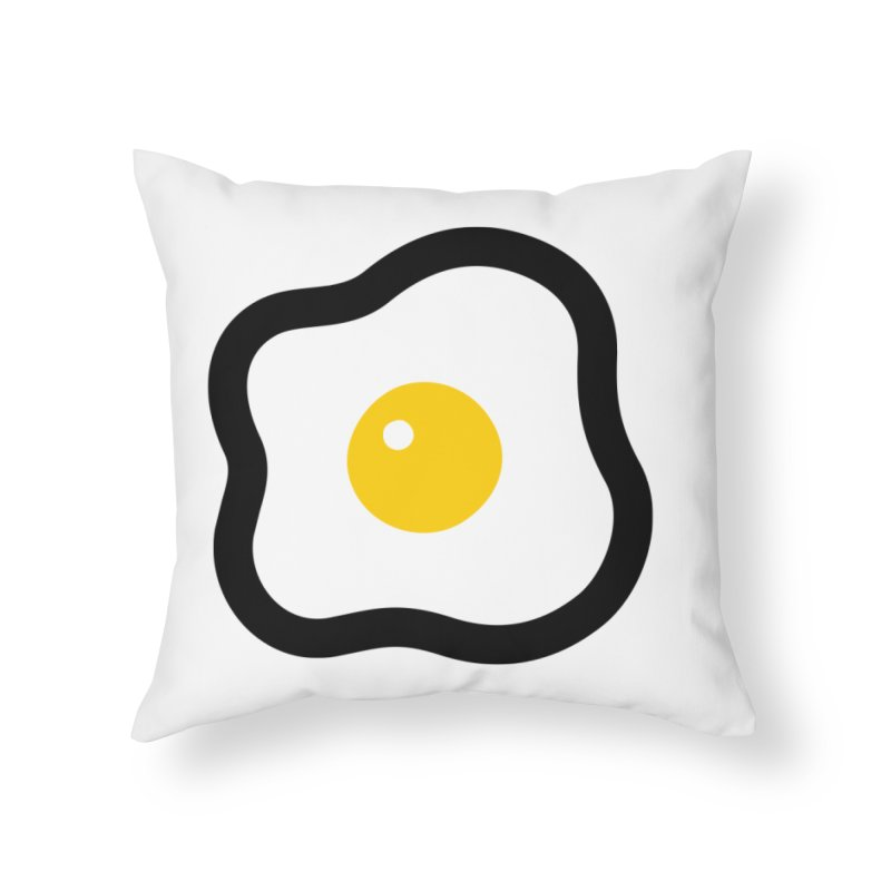 sunny side up! Home Throw Pillow by Ziqi - Monster Little