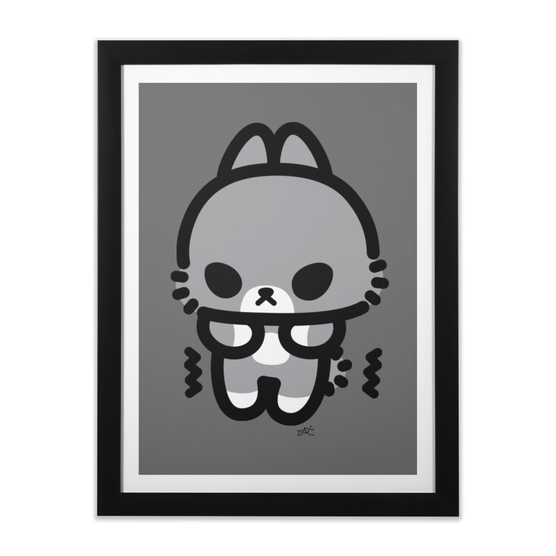 scaredy scaredy grey bunny Home Framed Fine Art Print by Ziqi - Monster Little