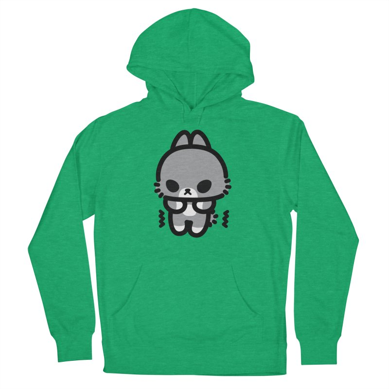 scaredy scaredy grey bunny Women's French Terry Pullover Hoody by Ziqi - Monster Little