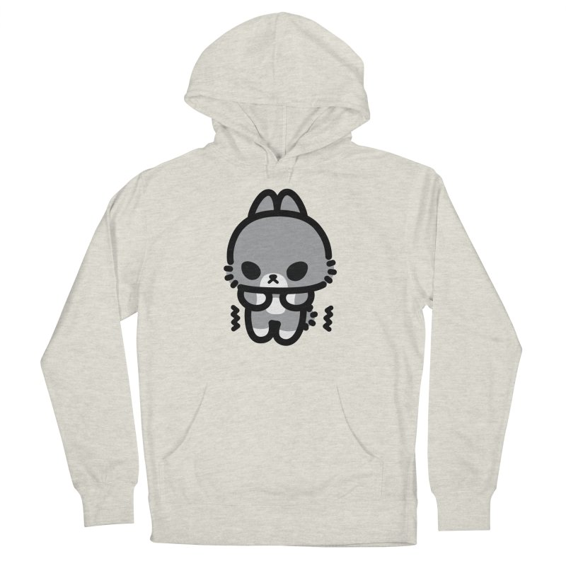 scaredy scaredy grey bunny Men's French Terry Pullover Hoody by Ziqi - Monster Little