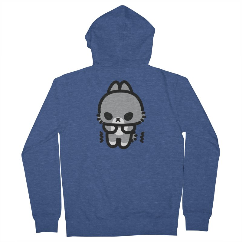 scaredy scaredy grey bunny Women's French Terry Zip-Up Hoody by Ziqi - Monster Little