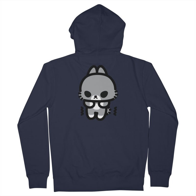 scaredy scaredy grey bunny Women's Zip-Up Hoody by Ziqi - Monster Little