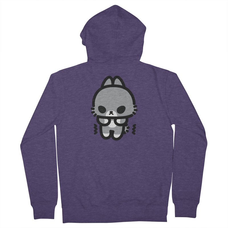 scaredy scaredy grey bunny Men's Zip-Up Hoody by Ziqi - Monster Little