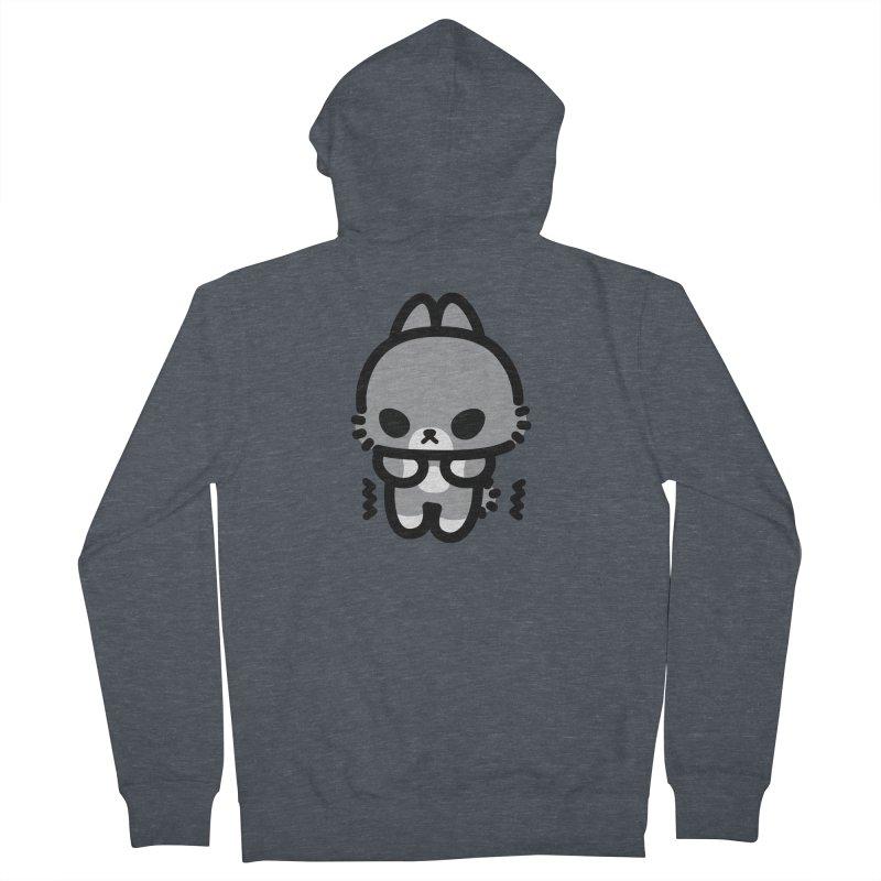 scaredy scaredy grey bunny Men's Zip-Up Hoody by Ziqi - Monster Little