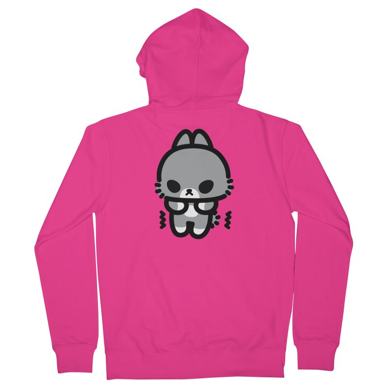 scaredy scaredy grey bunny Men's French Terry Zip-Up Hoody by Ziqi - Monster Little
