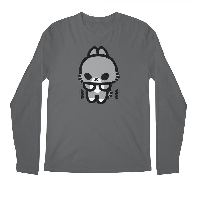 scaredy scaredy grey bunny Men's Regular Longsleeve T-Shirt by Ziqi - Monster Little