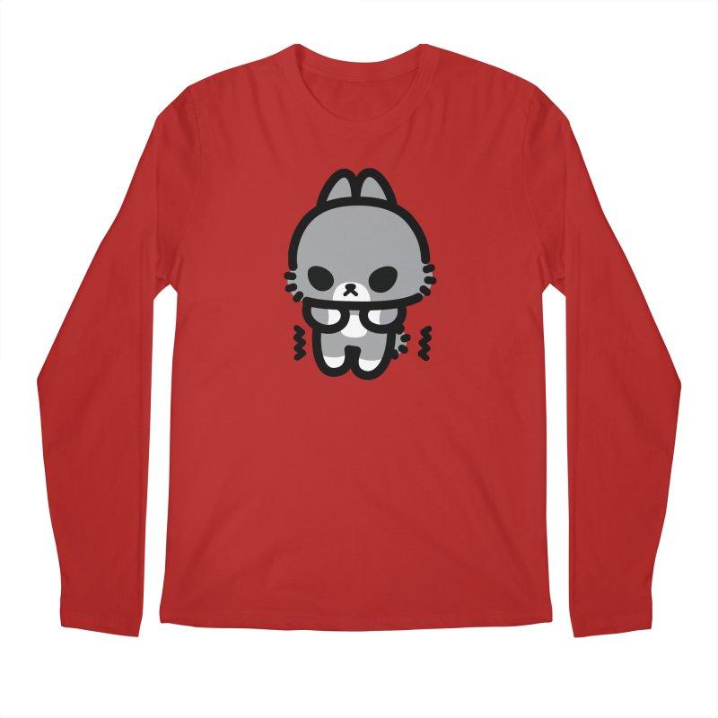scaredy scaredy grey bunny Men's Longsleeve T-Shirt by Ziqi - Monster Little