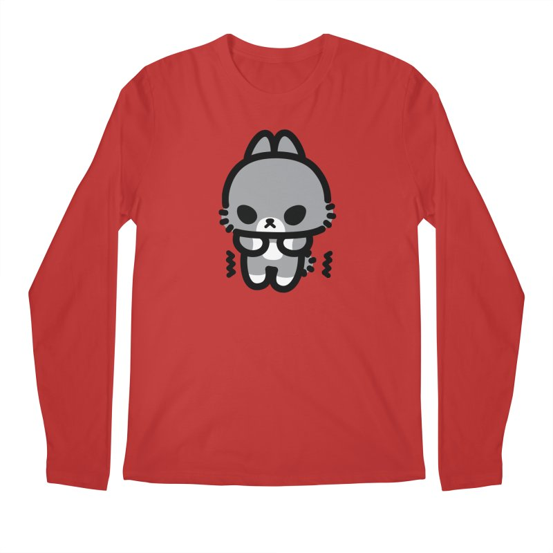 scaredy scaredy grey bunny Men's Regular Longsleeve T-Shirt by Ziqi - Monster Little