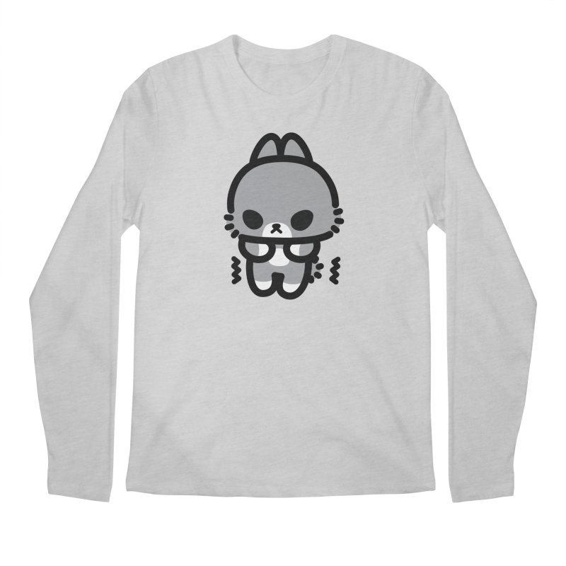scaredy scaredy grey bunny Men's Longsleeve T-Shirt by Ziqi - Monster Little