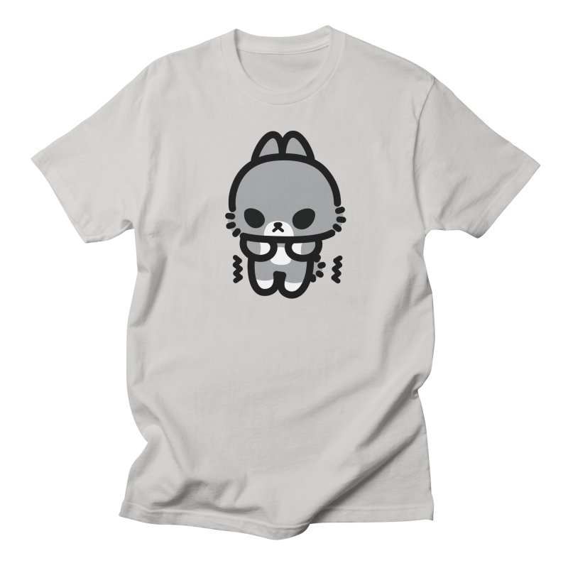 scaredy scaredy grey bunny Men's Regular T-Shirt by Ziqi - Monster Little