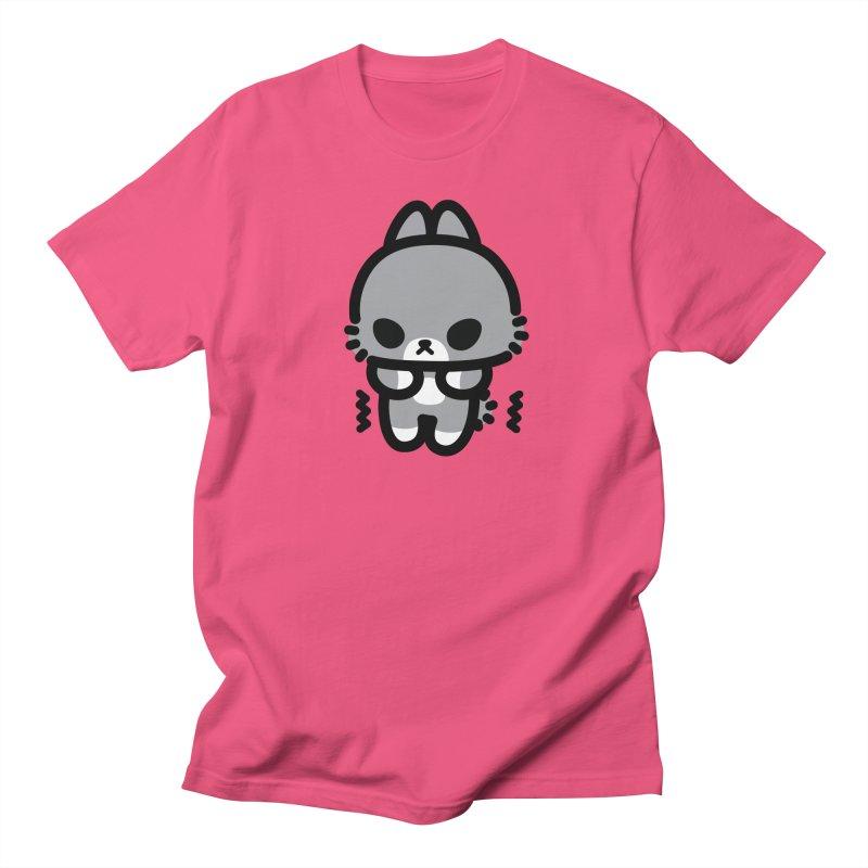 scaredy scaredy grey bunny Men's Regular T-Shirt by Ziqi - Monster Little